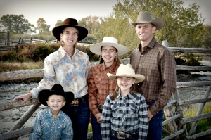 Heath and Kiley Martinell children, Dell Montana Ranching Family