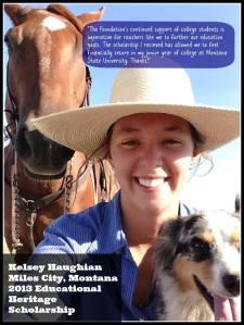 Kelsey Haughian Heritage Award
