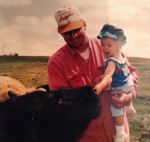 Dean with daughter, Lauren on their ranch.