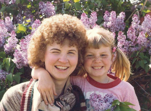 Shelley with her mother.