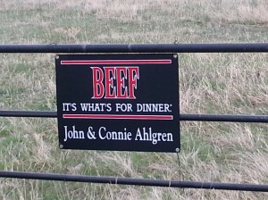 Montana CattleWomen Ranch Beef Sign